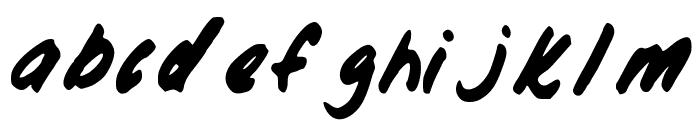 HisHand Font LOWERCASE