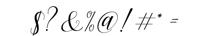 HisteriaScriptDemo Font OTHER CHARS