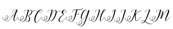 HisteriaScriptDemo Font UPPERCASE