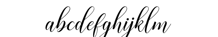 HisteriaScriptDemo Font LOWERCASE