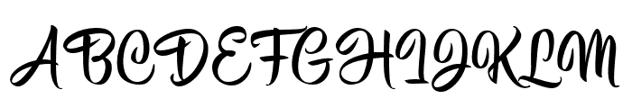 HisyamScript Personal Use Font UPPERCASE