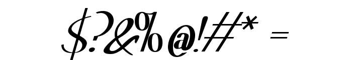 Hitalica  Bold Font OTHER CHARS