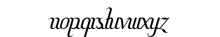 Hitalica Font LOWERCASE