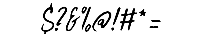 HitchHike Font OTHER CHARS