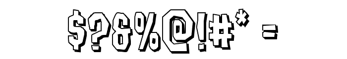 Hitchblock 3D Font OTHER CHARS