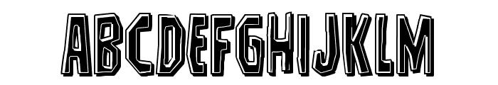 Hitchblock Bevel Font UPPERCASE