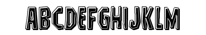Hitchblock Bevel Font LOWERCASE
