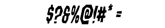 Hitchblock Condensed Italic Font OTHER CHARS