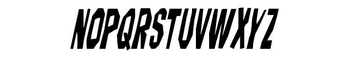 Hitchblock Condensed Italic Font UPPERCASE