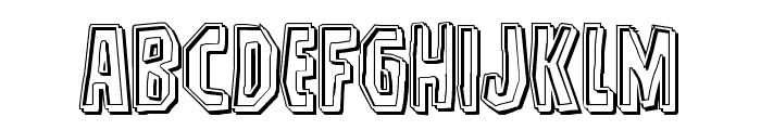 Hitchblock Engraved Font LOWERCASE