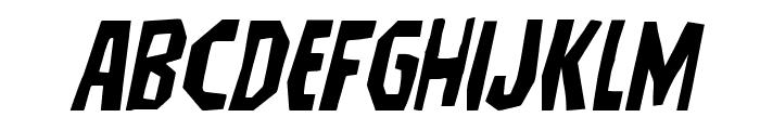 Hitchblock Expanded Italic Font UPPERCASE