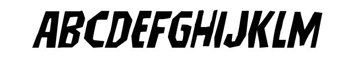Hitchblock Expanded Italic Font LOWERCASE