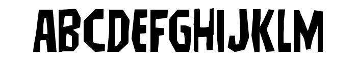 Hitchblock Expanded Font UPPERCASE