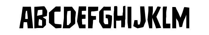 Hitchblock Expanded Font LOWERCASE