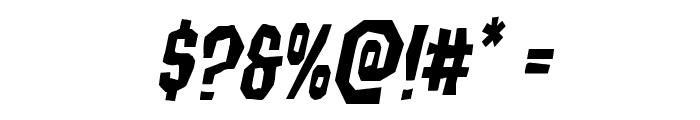 Hitchblock Italic Font OTHER CHARS