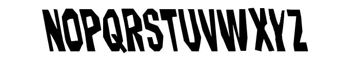 Hitchblock Leftalic Font UPPERCASE