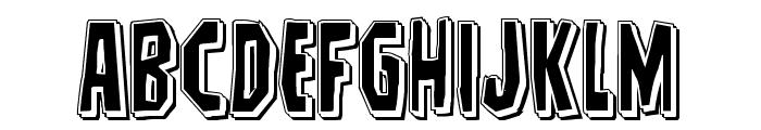 Hitchblock Punch Font UPPERCASE