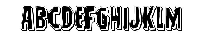 Hitchblock Punch Font LOWERCASE