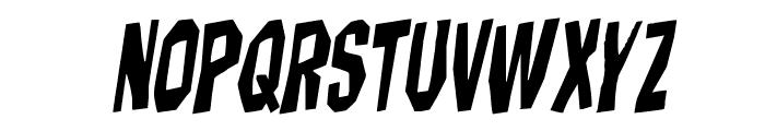 Hitchblock Rotalic Font UPPERCASE