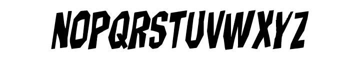 Hitchblock Rotalic Font LOWERCASE
