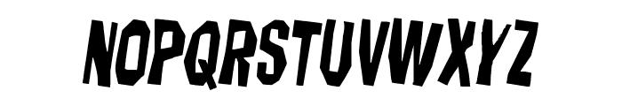 Hitchblock Rotated 2 Font LOWERCASE