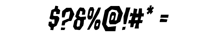 Hitchblock Staggered Italic Font OTHER CHARS