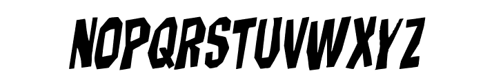 Hitchblock Staggered Rotalic Font LOWERCASE