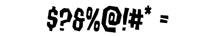 Hitchblock Staggered Rotated Font OTHER CHARS