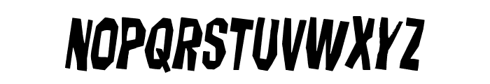 Hitchblock Staggered Rotated Font LOWERCASE