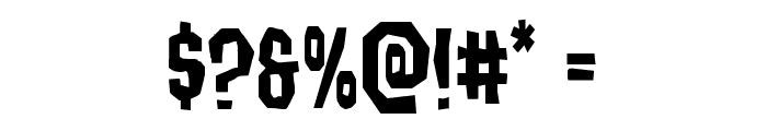 Hitchblock Staggered Font OTHER CHARS