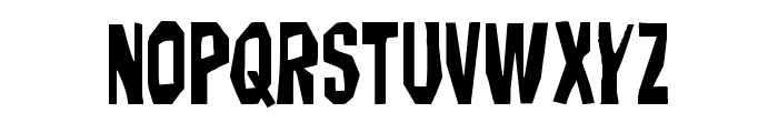 Hitchblock Staggered Font UPPERCASE