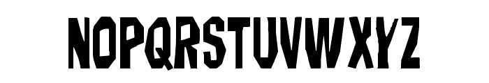 Hitchblock Staggered Font LOWERCASE