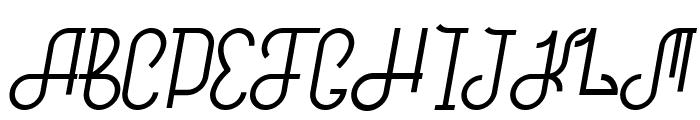 Hitchhiker Font UPPERCASE