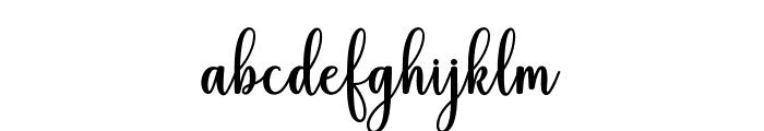 HiyidaScriptDemo Font LOWERCASE