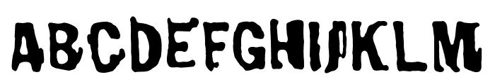 Bad Neighborhood Burnthouse Font UPPERCASE