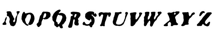 Bad Neighborhood Condemdhouse Font UPPERCASE