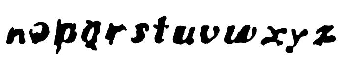Bad Neighborhood Condemdhouse Font LOWERCASE