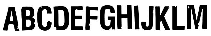 Bad Neighborhood Dirthouse Font UPPERCASE