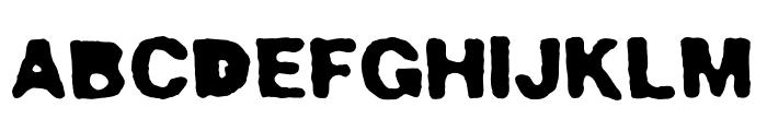 Bad Neighborhood Poorhouse Font UPPERCASE