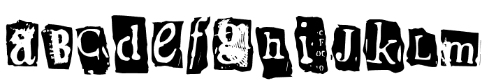 Bighouse Font LOWERCASE