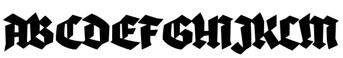 Blaktur Font UPPERCASE