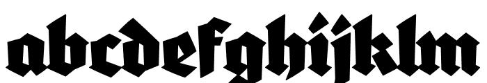 Blaktur Font LOWERCASE