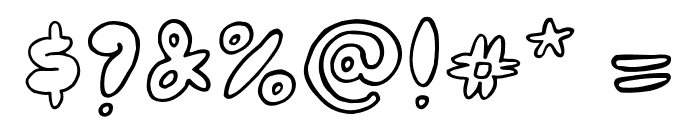 Bubblehouse Font OTHER CHARS