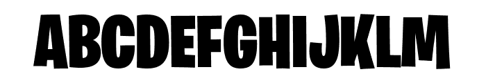 Burbank Big Condensed Light Black Font UPPERCASE