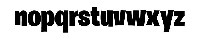 Burbank Big Condensed Light Black Font LOWERCASE