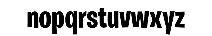 Burbank Big Condensed Light Bold Font LOWERCASE