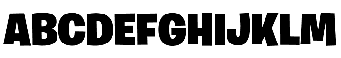 Burbank Big Regular Light Black Font UPPERCASE