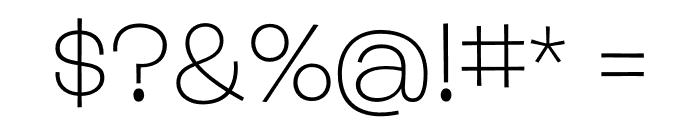 Burbank Big Wide Light Regular Font OTHER CHARS