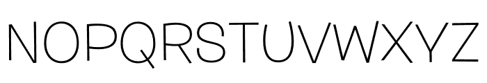 Burbank Big Wide Light Regular Font UPPERCASE