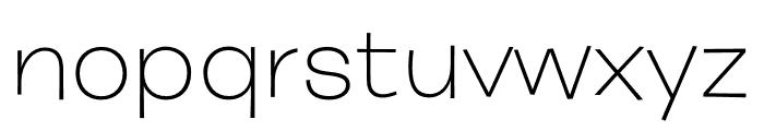 Burbank Big Wide Light Regular Font LOWERCASE